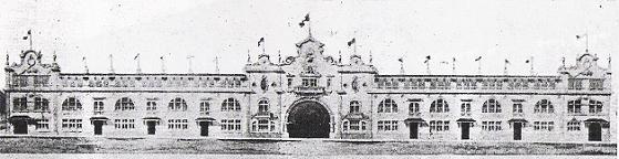 Fachada do Estádio Vasco da Gama em 1927.